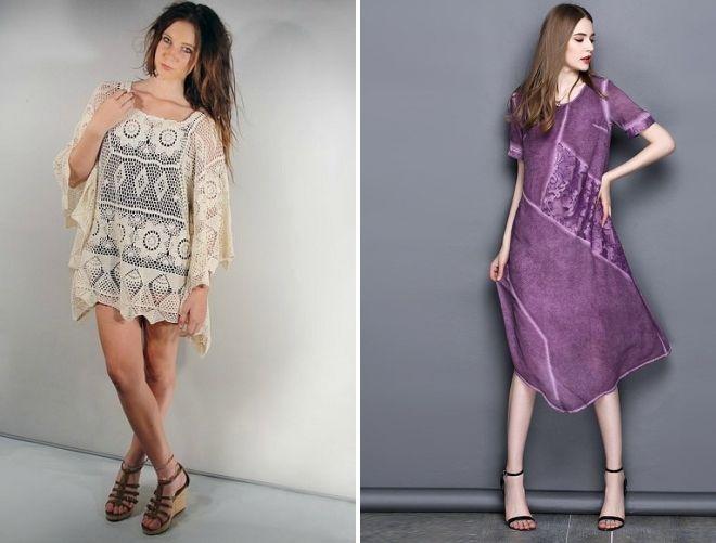 с какой обувью носить платье балахон