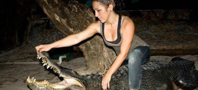 Девушка, которая любит крокодилов