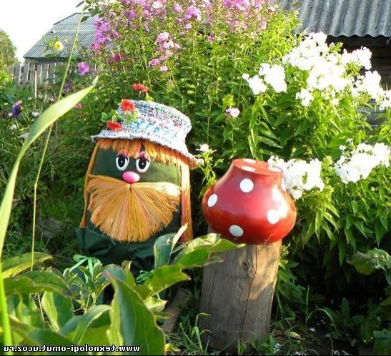 Декоративные поделки для сада и огорода своими руками фото 98