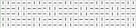 Шахматка 2x2 для вязания спицами. Схема