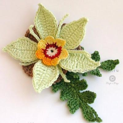 Цветы вязанные крючком со сх…