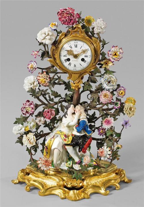 антикварный фарфор часы - 04