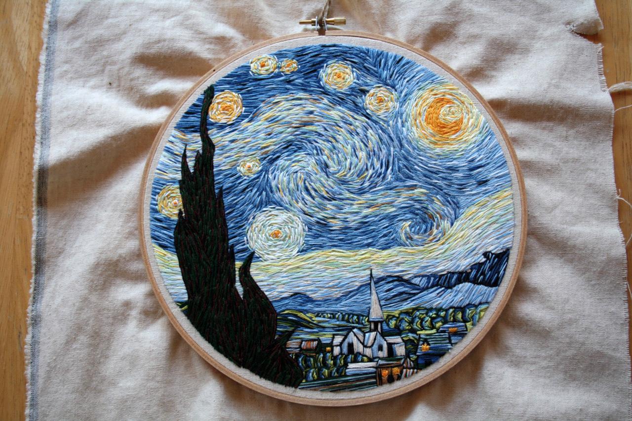 1088 Ван Гог «Звёздная ночь - Мир Вышивки