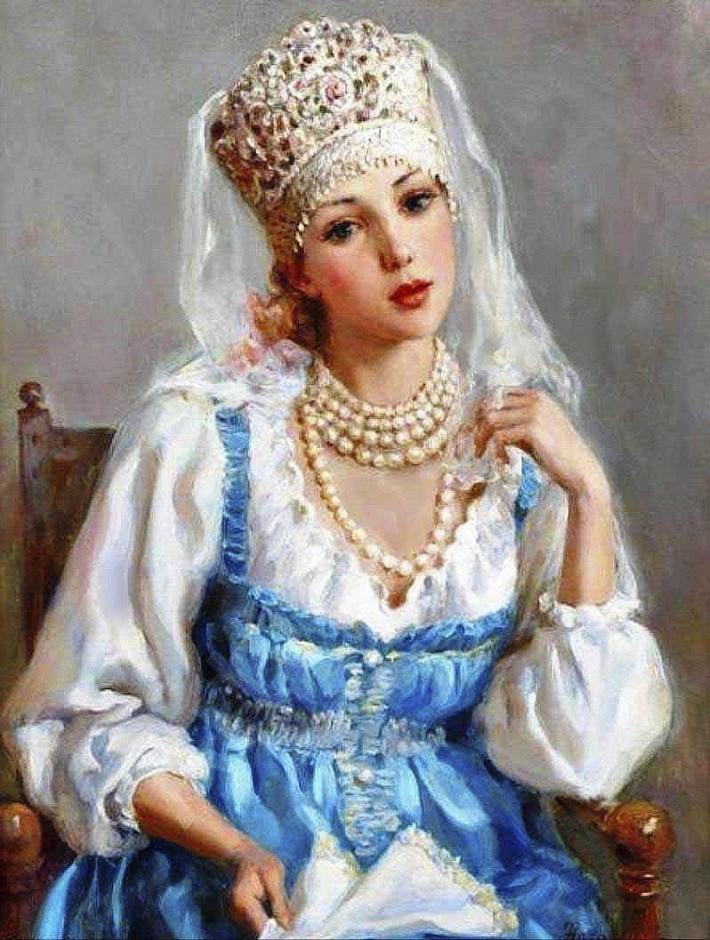 Русские красавицы художника Владислава Нагорнова