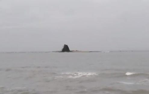 Извержение грязевого вулкана в Азовском море