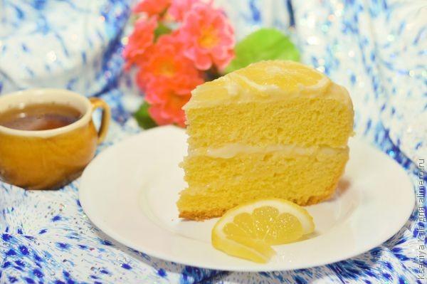 Лимонный торт в мультиварке
