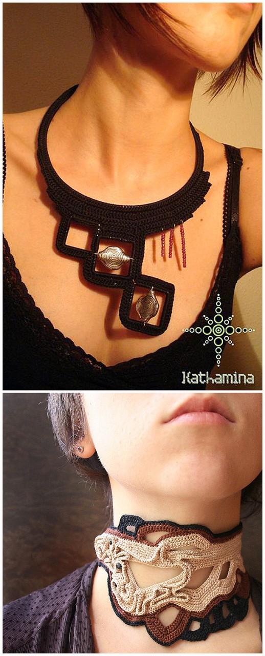 Потрясающие вязаные браслеты, серьги, колье: 150 прекрасных украшений крючком и спицами