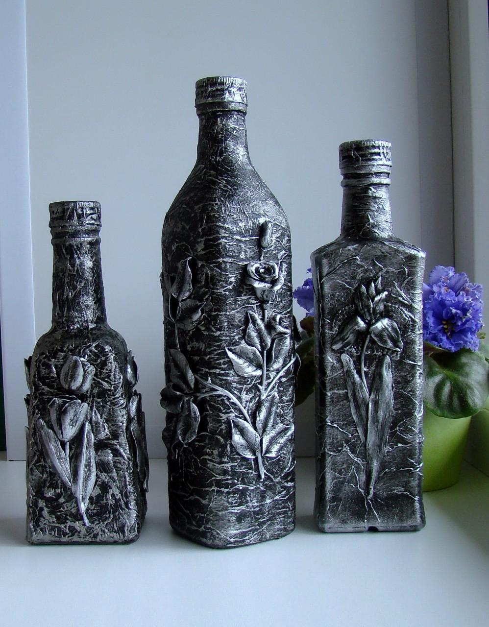 Декор ваз под старину