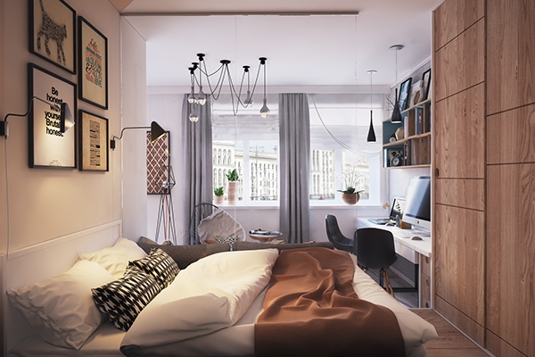 Лучшие варианты дизайна однокомнатной квартиры 40 кв м