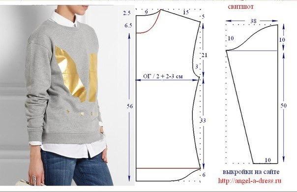 Как сшить пуловер из трикотажа своими руками
