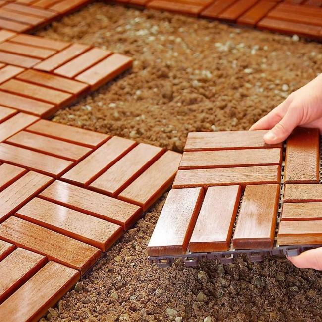 Пластиковая плитка для дорожек на даче - многофункциональный и доступный вариант, безусловно заслуживающий внимания