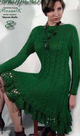 Платье (вязание спицами)