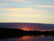 Закат на лещёвом берегу