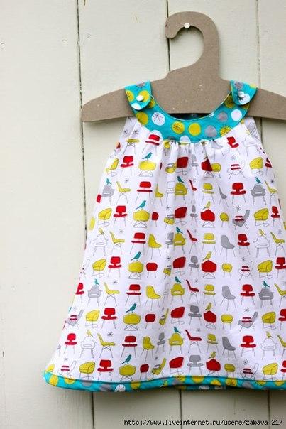 Детское платье с круглой кокеткой