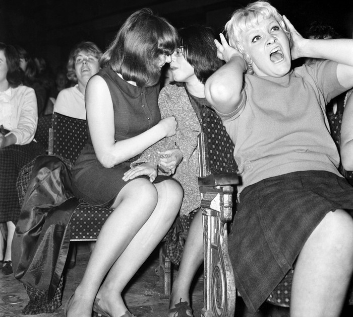 1. Девушки на концерте The Beatles. история, неизвестные фото, фото