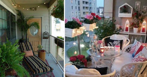 Маленький балкон как место для релакса: 27 крутых идей.