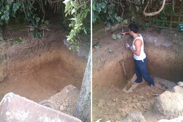 Когда у мужчины  во дворе погибло дерево,  он решил на его месте построить нечто необычное...