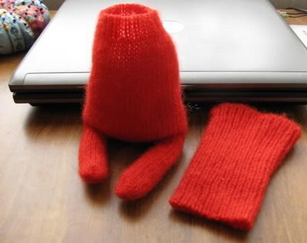 Лиса из перчатки своими руками