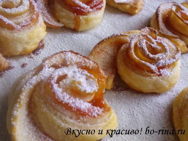 Десертный вихрь. Пироги с яблоками.  Слоёные яблочные розочки