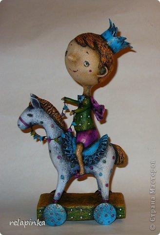 Мастер-класс Поделка изделие 23 февраля Папье-маше Принц на лошадке мастер-класс Бумага фото 1