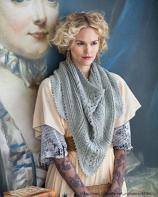 Великолепная ажурная шаль