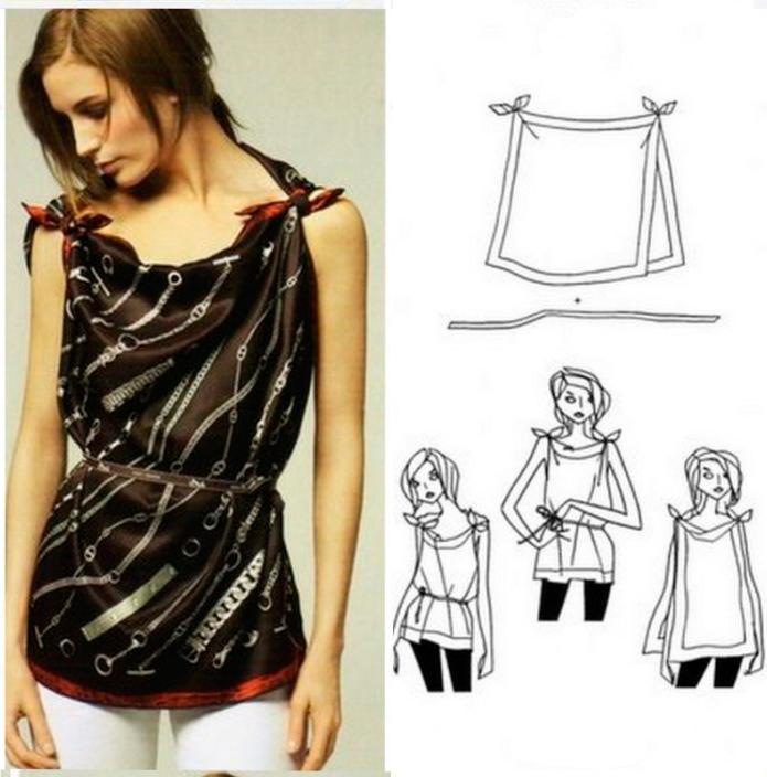 Сделать платье из платков