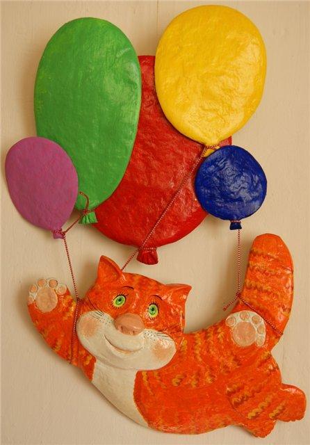Коты из папье-маше Светланы …
