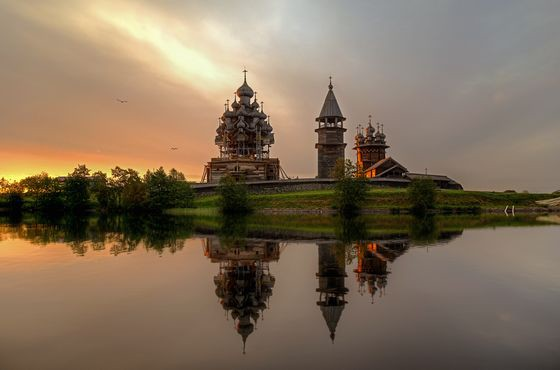 Церковь Преображения Господня (Россия, Кижи) красиво. необычно, храм. мир