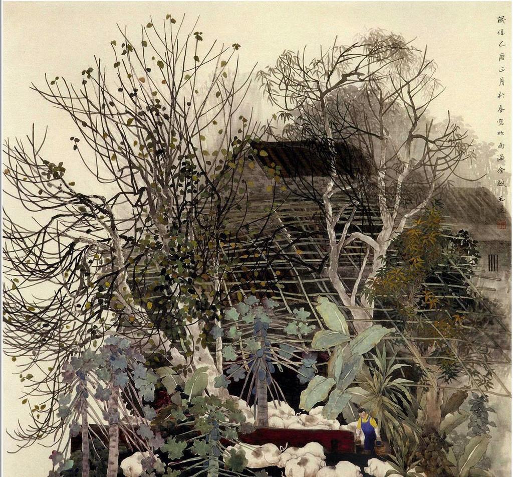 «В тех буйных травах, в гуще темных рощ совсем моя лачужка потерялась…» Китайская художница Chen YuLian