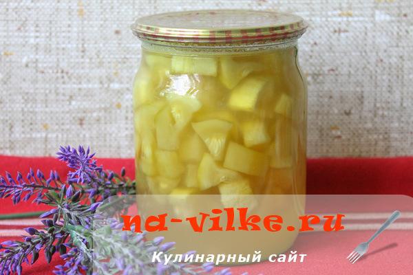 Как из кабачков сделать ананас на зиму