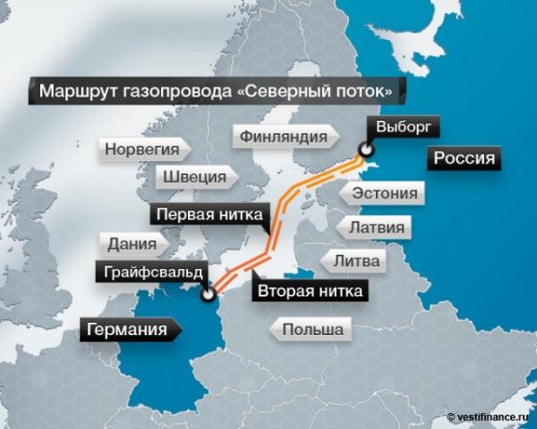 BP протянет Северный поток до Великобритании