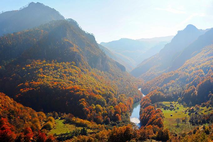 Осень в каньоне реки Тара, Черногория