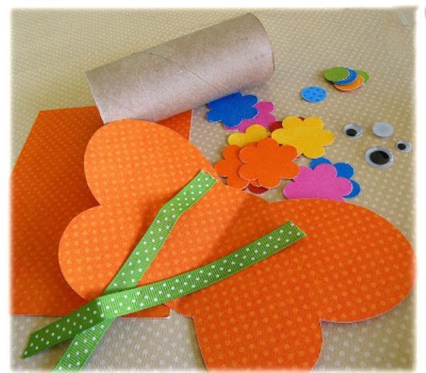 Как сделать из картона цветной бумаги