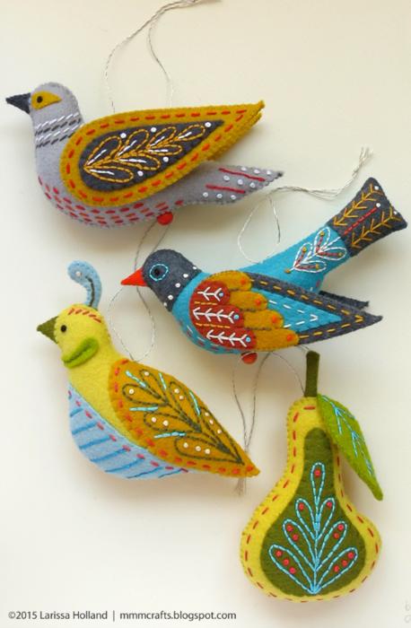 Райские птицы из фетра. Идеи (2) (458x700, 470Kb)