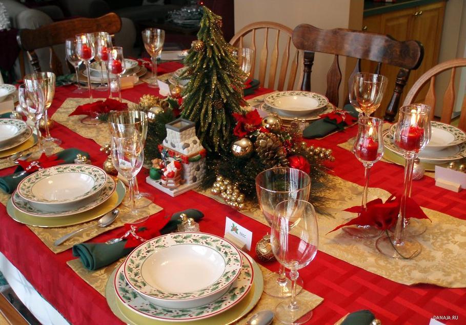 Как оформить новогодний стол своими руками