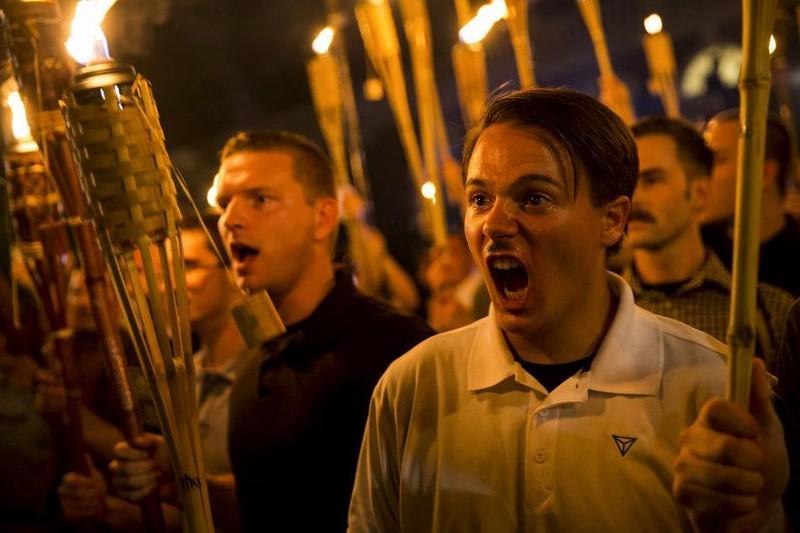 """Фото этого фрика из группировки """"альтернативные правые"""" не опубликовал только ленивый Трамп, Шарлотсвилль, америка, конфедерация, левые, сша"""