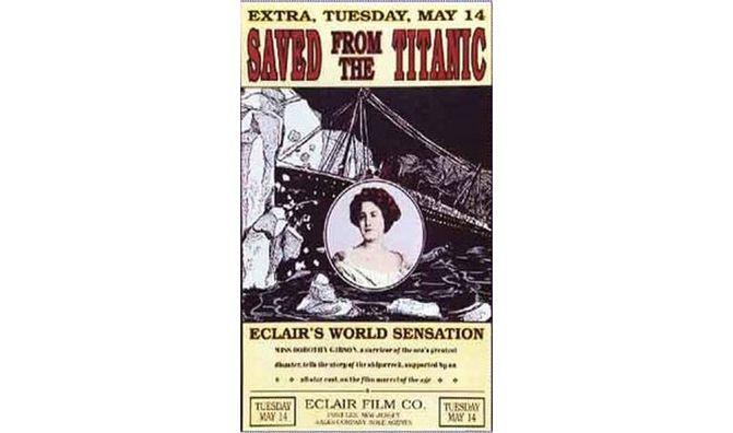 25. Первый фильм о «Титанике» был снят меньше, чем через месяц после катастрофы, и главную роль в нём сыграла актриса, выжившая в кораблекрушении. интересно, кораблекрушение, титаник