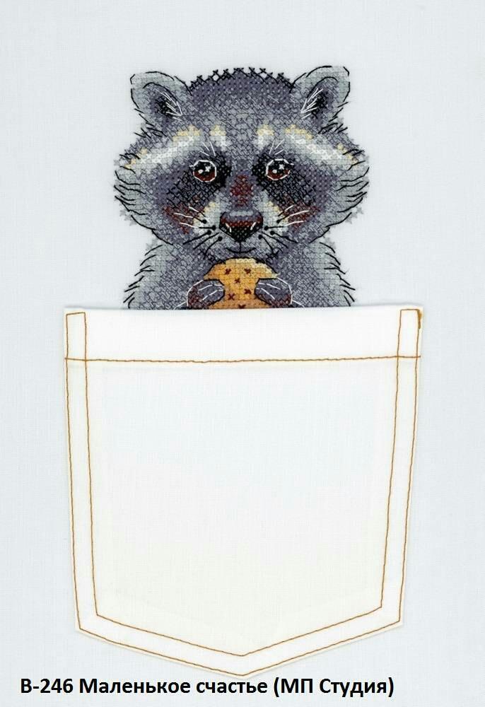 Енот в кармане (схема вышивки)