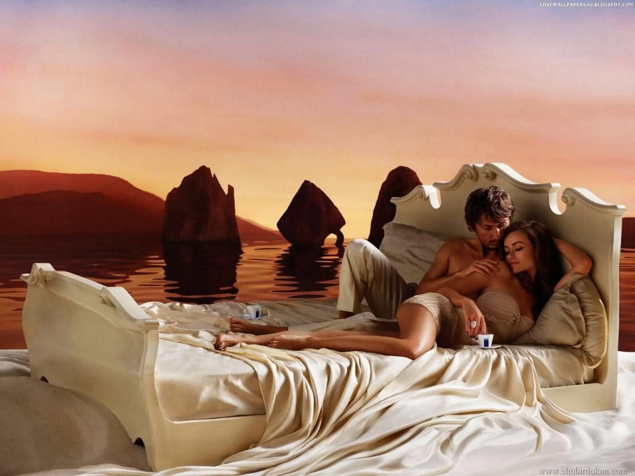 Фантазия семейный пары в постели 6 фотография