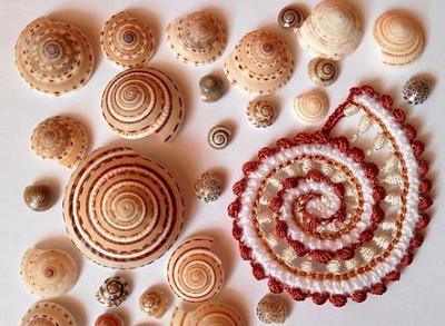 Морские ракушки связанные крючком. Идеи для вдохновения!