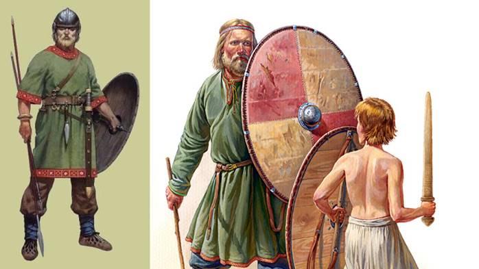 Иноземцы считали, что славяне никогда не носят кольчуг и в бою весьма свирепы. /Фото:videouroki.net