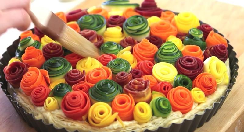 Красивейший овощной пирог!