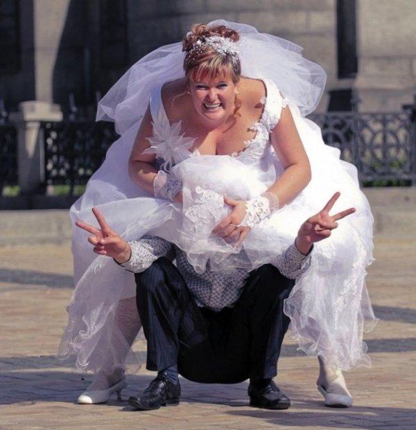 Свадебные снимки, которые можно было не делать