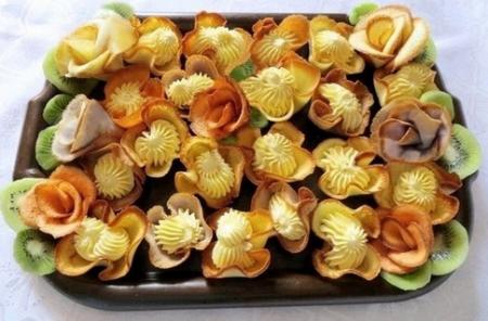 Розочки на соломке рецепт с фото