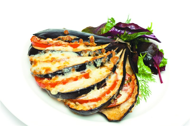 Рецепт баклажан с помидором в духовке