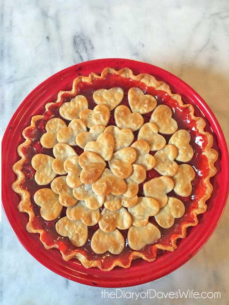 Пирог на День святого Валентина выпечка, красивая еда, кулинария, пироги