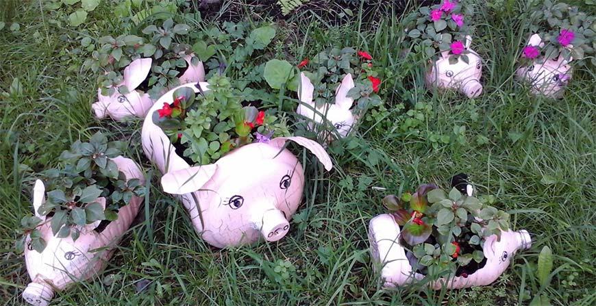 свинки из пластиковых бутлей