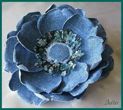 Цветы из джинс