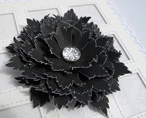 black ornate flower