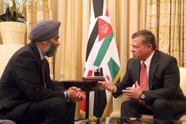где на фото министр обороны Канады, а где король Иордании?